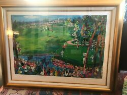 Leroy Neiman Signed Numbered And Framed Ryder Cup 2008 Serigraph