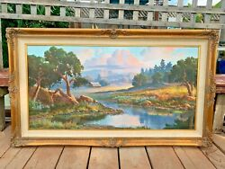 Beverly Carrick Western Desert Mountain Oil On Canvas Painting Listed Artist