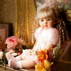 24and039and039handmade Soft Doll Silicone Lifelike Reborn Baby Doll Toddler Xmas Cute Gift