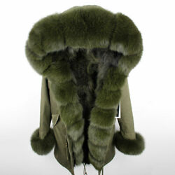 Womenand039s Real Fur Trim Parka Fox Real Fur Collar And Fur Lined Coat Jackets Outwear