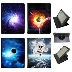 Azzumo Space Exploration Faux Leather Case Cover / Folio For The Rca Tablet