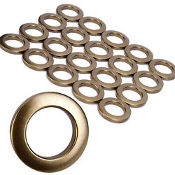 40x Plastic Eyelet Curtain Rings Round Snap Clips Grommet Window Decor 33mm