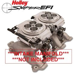 Holley Sniper Efi 550-527 4150 2x4 Dual Quad Fuel Injection Conversion Kit Shiny