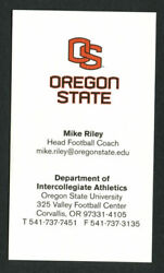 Mike Riley Signed Autograph Business Card Oregon State Head Football Coach Bc617