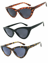 1 or 2 Pairs Cat Eye Full Lens Magnified Tinted Sun Readers Reading Sunglasses