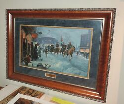 Mort Kunstler - Winter Riders - A/p - Custom Museum Framed - Collectible - Mint