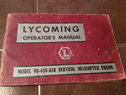 Lycoming Vo-435-a1b Helicopter Engine Operatorand039s Manual