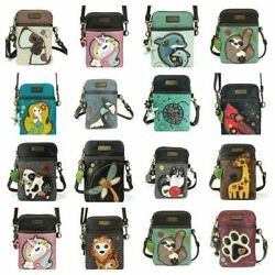 Chala Handbags Cell Phone Crossbody Purse Multicolor Handbag Adjustable Straps $32.50