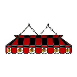 Chicago Blackhawks Nhl Hockey Stained Glass Pool Table Light - New - Made In Usa