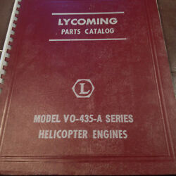 Lycoming Vo-435-a Series Engine Parts Manual