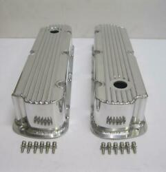 Small Block Ford Finned Fabricated Aluminum Tall Valve Covers Sbf 289 302 351w