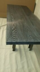 Dining Table Of Acid Ebonized/limed White Oak And Hot Rolled Steel