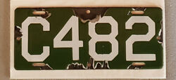 1912 Connecticut First Issue Porcelain Motorcycle License Plate Tag  C482