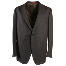 Nwt 3950 Isaia Soft Mid-weight Flannel Super 130s Wool Suit 48 R Eu 58