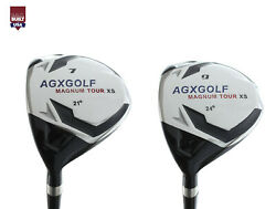 Agx Menand039s Left Hand Magnum Xs Edition 7 And 9 Fairway Woods Set Graphite Shafts