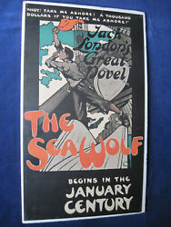 Original Advertising Poster For The Sea Wolf By Jack London For Century Magazine