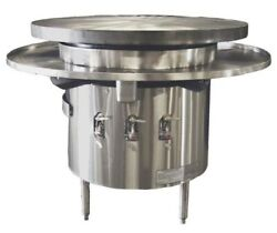 Town Mbr-36 Natural Gas 37 Flat Top Mongolian Barbeque Range