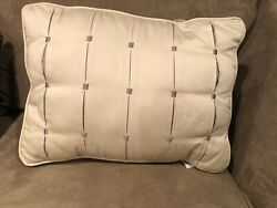 Tufted Home Decorative 16quot; Pillow Beige Tan