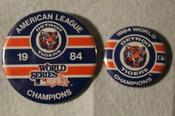 1984 Detroit Tigers World Series Pin And 1984 American League Champion Pin