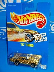 Hot Wheels Mid 1990s Gleam Team Edition 190 And03957 T-bird Light Gold Foil W/ Bws
