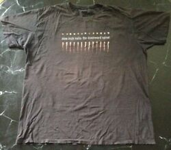 *VINTAGE Rare NINE INCH NAILS T SHIRT L Worn DISTRESSED GOTH BAND Ripped GENUINE
