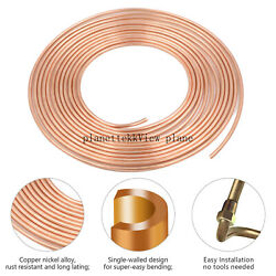 Copper Nickel Brake Line Tubing Kit 3 16 OD 25 Foot Coil Roll all Size Fittings $19.99