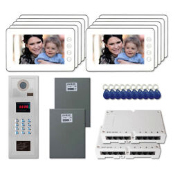 New Multi Tenant Entry Door Video Intercom System Kit With 10 7 Color Monitor