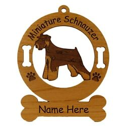 Mini Schnauzer Uncropped Dog Ornament Personalized With Your Dogs Name 3557