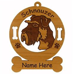 Schnauzer Head Uncropped Dog Ornament Personalized With Your Dogs Name 3885