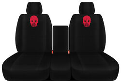 Designcovers 40/20/40 Seat Covers Fits 2011-2018 Ram/solid Blk W V Snake Skull