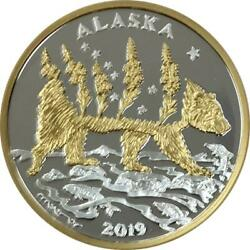 Alaska Mint Official 2019 State Medallion Gold And Silver Medallion Proof 1 Oz