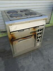 Toastmaster Electric Range Stainless Steel Convection Oven W/ 4 Hot Plate