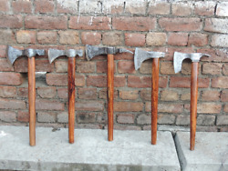 Hand Forged Viking Style 05 Tomahawk Axes/ Set Of Five Axes