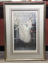LOUIS ICART Lady Dogs Fox Scottish Terrier Au Bar Art Deco
