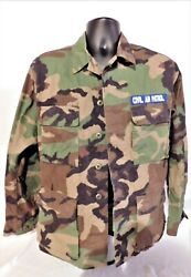 Small/regular Camouflaged Uniform Top With Civil Air Patrol Patches