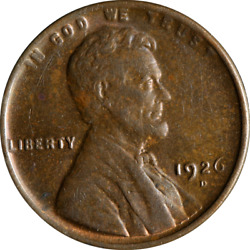 1926-d Lincoln Cent Great Deals From The Executive Coin Company - Bbsc23264