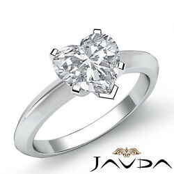 2.5mm Knife Edge Solitaire Heart Diamond Engagement Gia Certified F Vs2 0.56 Ct.
