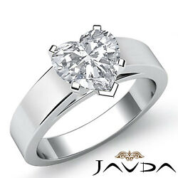 Heart Diamond Cathedral Engagement Solitaire Gold 5.5mm Ring Gia E Vs2 0.50 Ct.