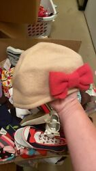 NWT Gymboree Felt Nude Pink Bow Girls Hat Cat Line 8 And Up