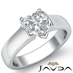 Heart Diamond Engagement Gia G Si1 Contour Dome Solitaire 5mm Gold Ring 1.00 Ct.