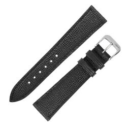 Rios1931 French Fine-grained Leather Watch Strap In Black