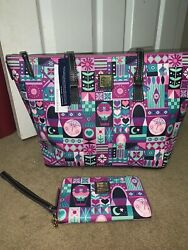 Disney Parks Dooney And Bourke Small World Set Tote Is New Wallet Is Used