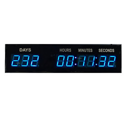 BTBSIGN Blue 1.8quot; 9Digits Large LED Countdown Count Up Days Clock with Wireless