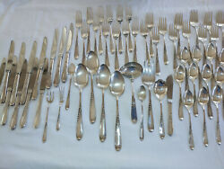 60 Pieces Silver Wheat By Reed And Barton Or 24 Pieces With Or Without Serving
