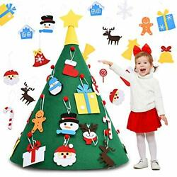 Boao 31 Pieces 3D DIY Felt Christmas Tree with 30 Pieces Detachable Hanging