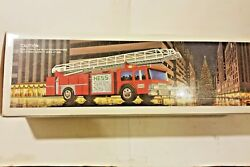 Hess 1986 Red Fire Truck Toy Bank
