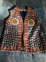 Antique Wedding Vest Middle East Beaded Coin Shell Embroidered Dries Van Noten