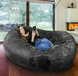 Large Bean Bag Chair 8 ft Sofa Giant Adult Dorm Furniture XL Lounge College Home