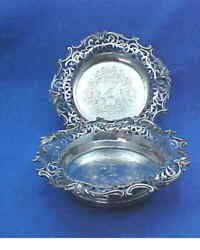 Pair Sterling Silver Magnum Decanter Coasters Edward Barnard And Sons London 1838