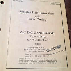 Eclipse Ac-dc Generator Type 1310-1-a Service Instructions And Parts Manual